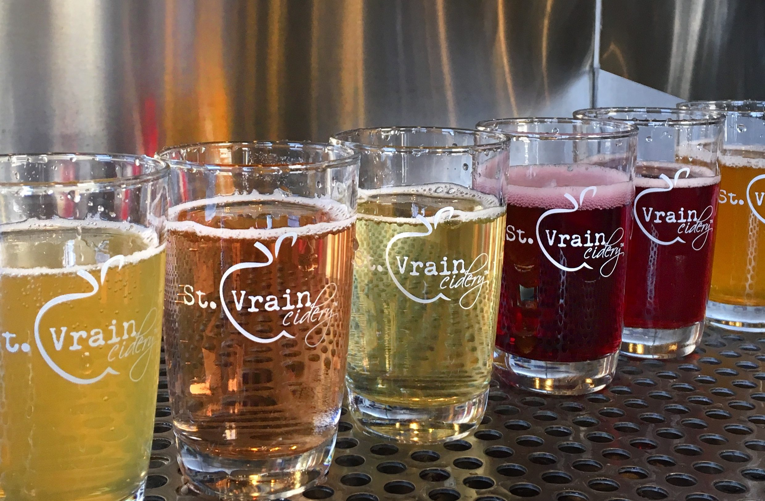 Colorful St. Vrain Cidery Pours