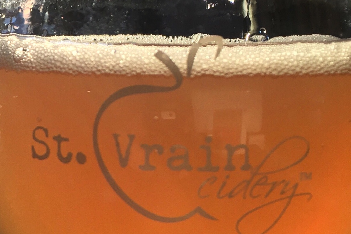 St. Vrain Cidery pour
