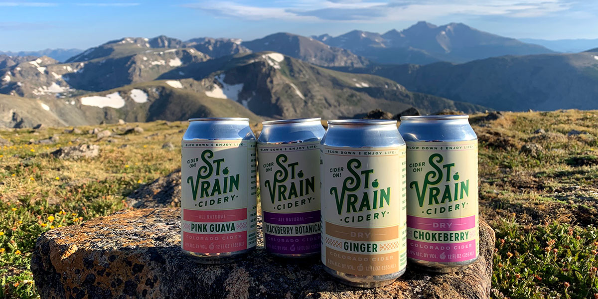 St. Vrain ciders core pack in Colorado mountains